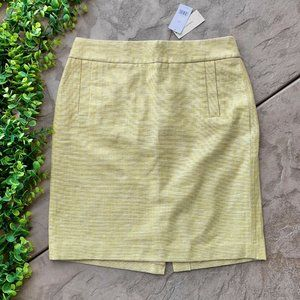 Banana Republic • Yellow Tweed Cotton Linen Skirt